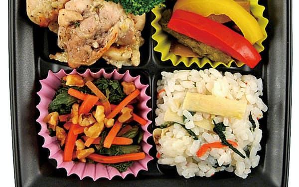 4月に販売した「乳和食」のお弁当は和食にスキムミルクを使った