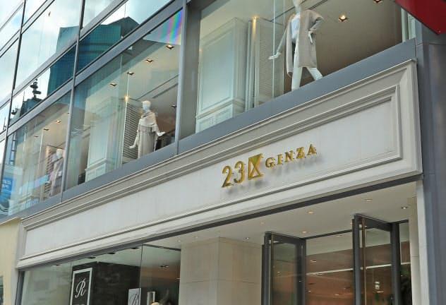 「23区」「組曲」など主要ブランドは残す(東京・銀座の23区GINZA)