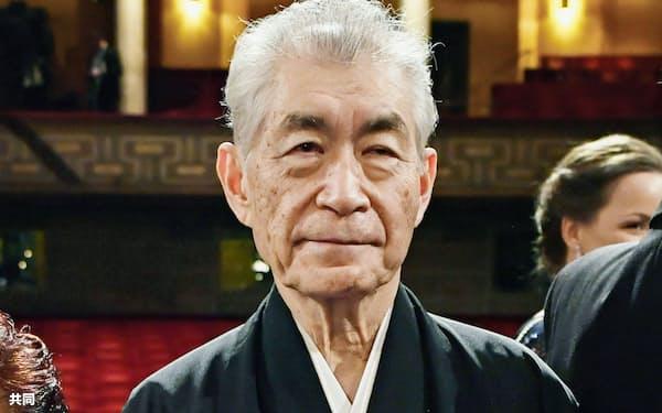 2018年にノーベル生理学・医学賞を受賞した本庶佑・京都大特別教授(ストックホルム)=共同