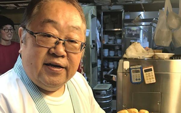 円盤餃子のPRに取り組んできた「ふくしま餃子の会」の高橋会長(山女店主)