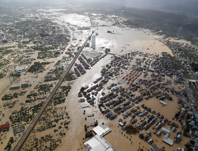 台風、21河川で堤防決壊 東日本の広範囲で氾濫