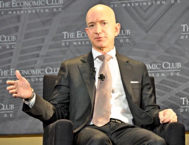 米アマゾン・ドット・コムのベゾスCEOらは9月、連邦政府レベルの統一ルールを米連邦議会に要望した(写真は18年)
