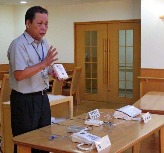 埼玉県は迷惑電話撃退装置の使い方を伝える出前講座を開いている