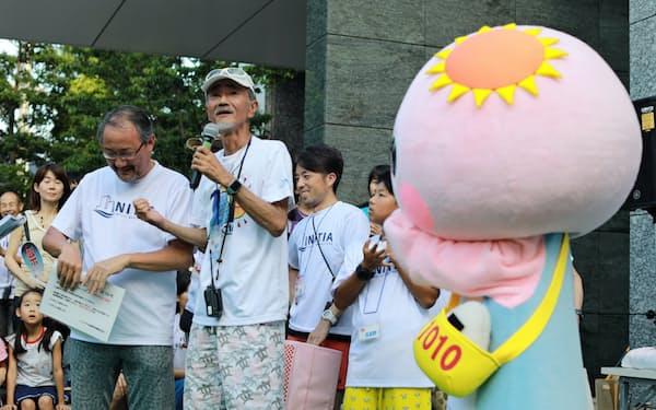 イニシア千住曙町では、ゆるキャラをつくり様々な世代の住民の親睦を深める(東京都足立区)