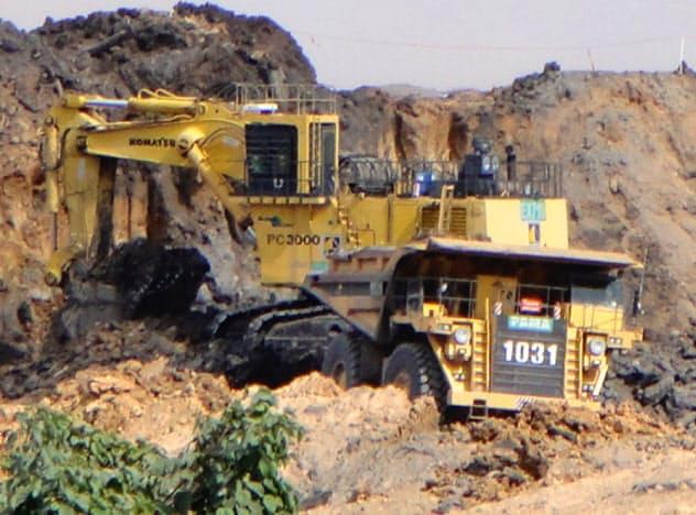 インドネシアで鉱山機械の販売が苦戦する