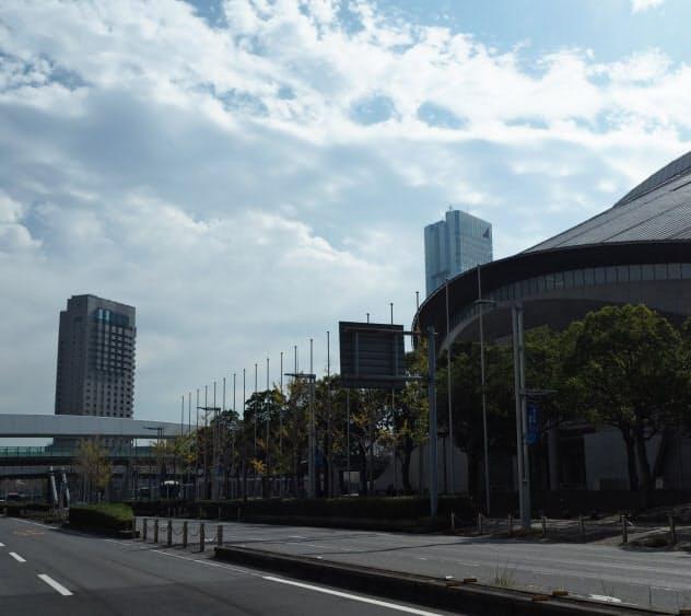 幕張メッセ周辺の大型ホテルは組織委からの仮押さえが相次ぐ(千葉市)