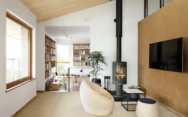 三井ホームの暖炉があるコンセプトハウス