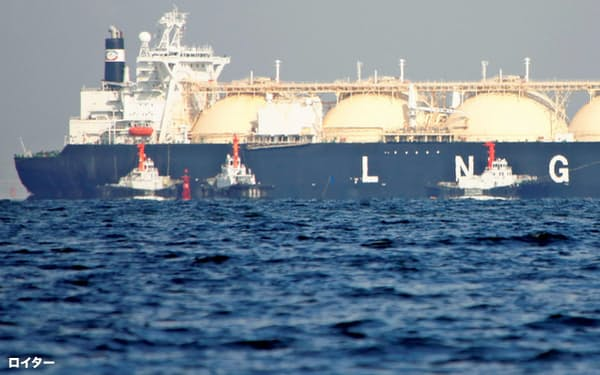 石炭や石油と並んで、天然ガスを「座礁資産」と扱う流れが始まった                                                   (2017年11月、日本近海)=ロイター