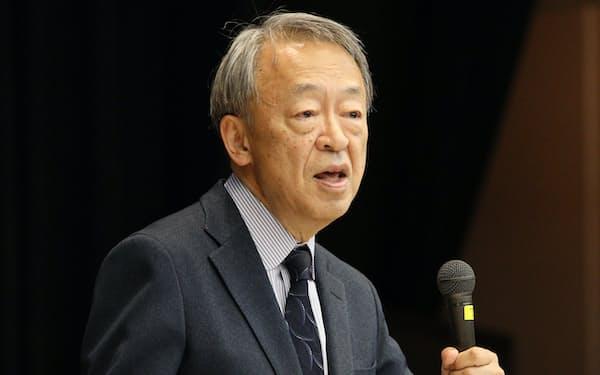 「世界の動きを知ってほしい」と呼びかける池上氏(2019年12月、立教大学池袋キャンパス)