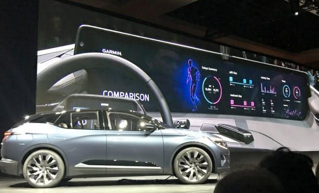 バイトンは初の市販高級EV「M―Byte(エムバイト)」を北米で初公開した(5日、米ラスベガス)