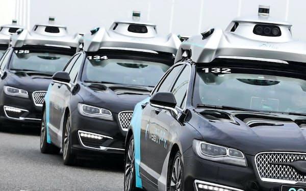 中国では自動運転のサービスが広がってきた(広東省広州市)