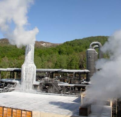 国内では23年ぶりの大型地熱となった山葵沢地熱発電所(19年5月、秋田県湯沢市)