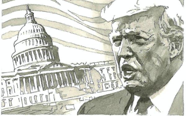 今秋の米大統領選では、誰がだけでなく、どのように選ばれるかも注目される                                                   イラスト・よしおか じゅんいち