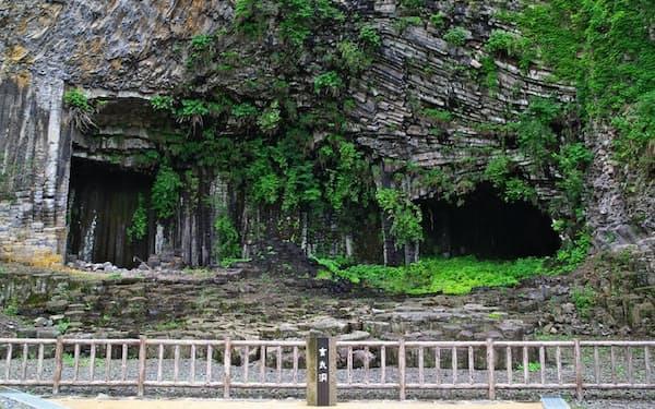 玄武洞の岩石などを分析して地磁気の逆転を結論づけた                                                   =玄武洞ミュージアム提供