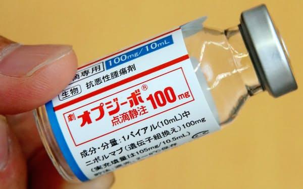 がん免疫薬の一つ、小野薬品工業の「オプジーボ」