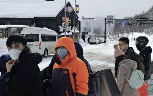 ニセコではアジア系の観光客が増えている