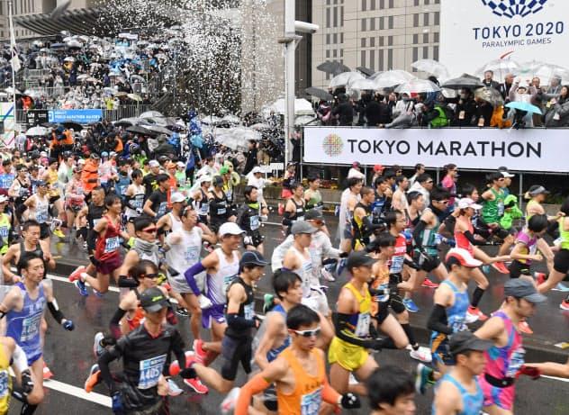 今年の東京マラソンは「エリートランナー」のみで開く(昨年3月の大会)