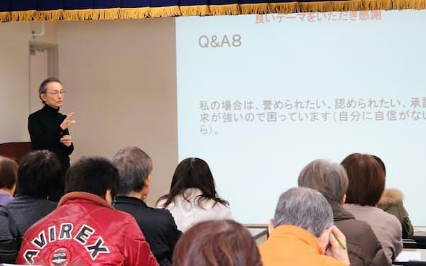 藍里病院の吉田副院長は「CRAFT」を取り入れた依存症家族勉強会を実施している(1月、徳島県)