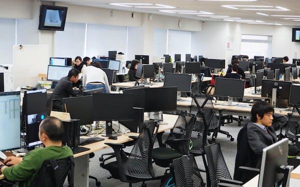 全社員にテレワークを原則とする通達を出したメンバーズの本社は人影もまばら(東京都中央区)