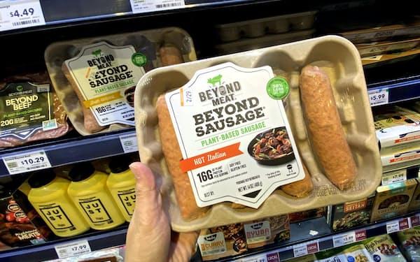ビヨンド・ミートの製品を扱う店は7万7000に増えた(米カリフォルニア州のスーパー)