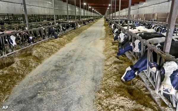 気候変動への影響を重視する投資家と消費者の台頭で、農業も変革を求められている(米ウィスコンシン州の農場)=AP