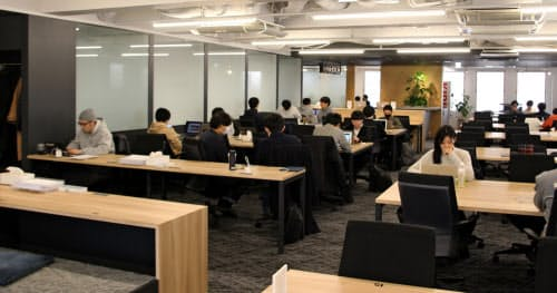 div(東京・渋谷)が提供するプログラミングスクール「テックキャンプ」の教室の様子