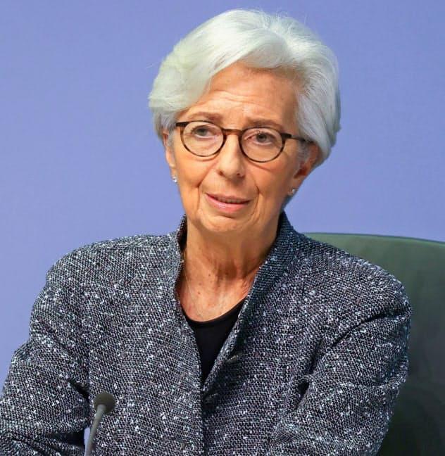 ECBのラガルド総裁は市場の混乱を収められるか=ロイター