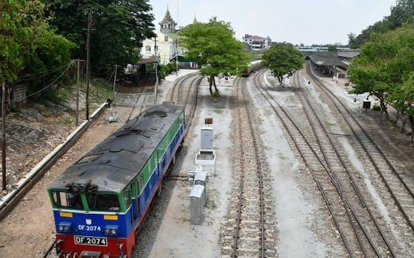 日本が支援しているヤンゴンの鉄道改修事業もプロジェクトバンクに含まれている