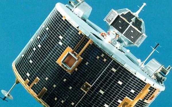 月に向かって打ち上げた工学実験衛星「ひてん」(JAXA提供)