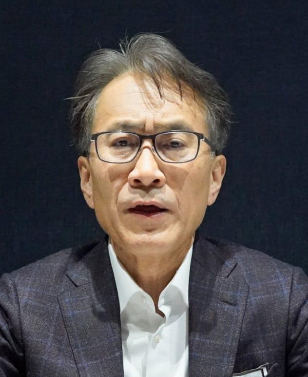 インタビューに応じるソニーの吉田社長(写真は1月)