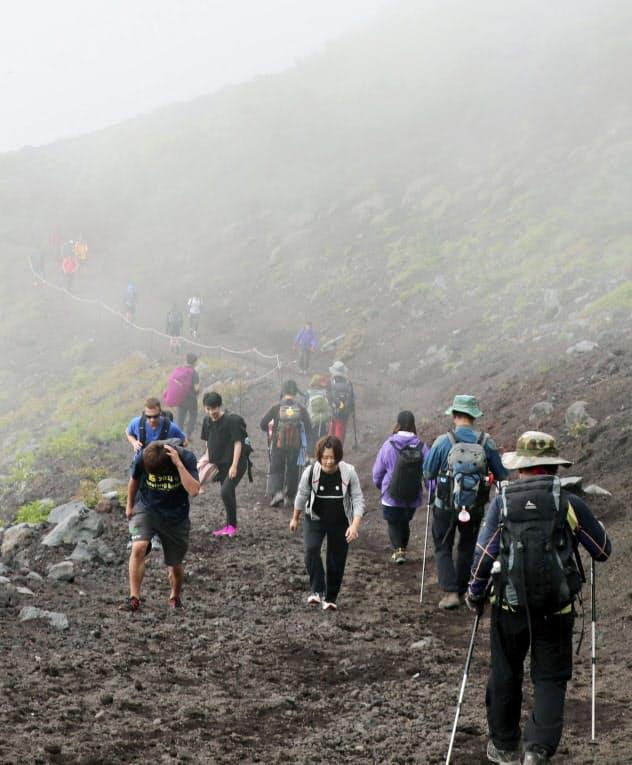 富士山静岡県側登山道の富士宮ルート(2019年7月)