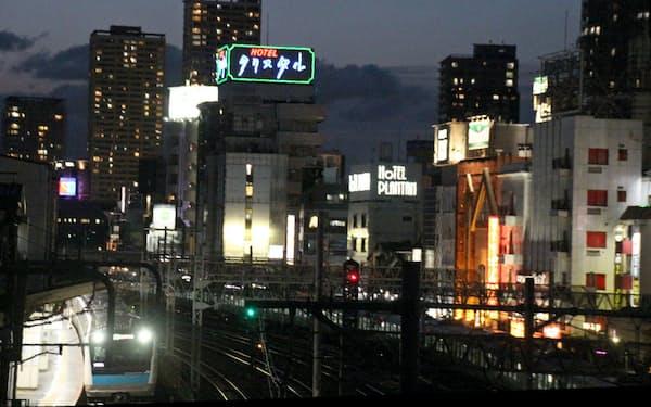 JR鶯谷駅周辺のラブホテル街