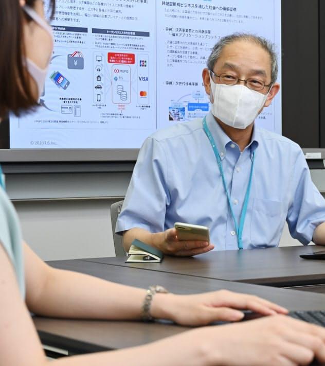 TISで再雇用で働く井口さんは金融機関向けのシステム開発を手掛ける(東京都新宿区)