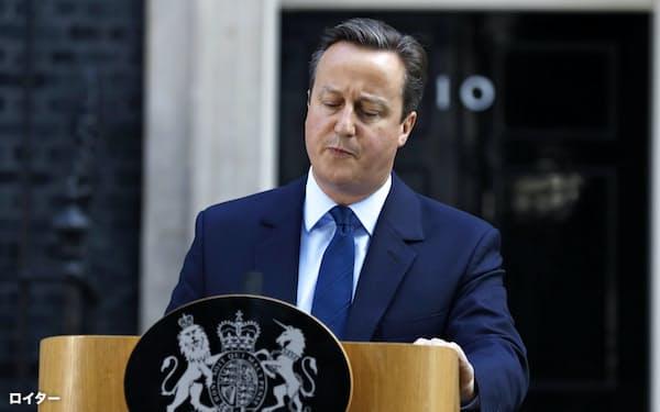 辞意を表明した当時英首相のキャメロン氏=ロイター