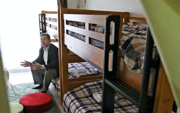 小川さんが営む民泊は予約が全てキャンセルとなった(名古屋市名東区)
