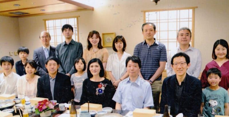 紫綬褒章受章で弟子たちがお祝いの会を開いてくれた(2018年5月)
