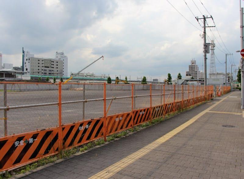 複合施設の整備が進むJR宇都宮駅東側の地点が栃木の最高路線価で初めて首位に立った