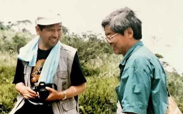 養老孟司さん(右)は、国内外で何度も虫を採るための旅をする旧知の仲だ