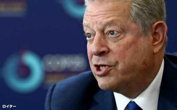 アル・ゴア元米副大統領はモラル・マネーの単独インタビューに応じた(19年12月)=ロイター