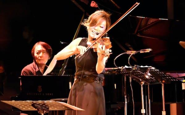 寺井のバイオリンはダイレクトに聴く者の心を動かす