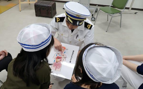 ファモーゼスは患者や医療スタッフが船乗りになり、てんかんについて学んでいく=静岡てんかん・神経医療センター提供