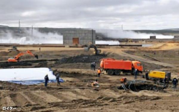 ロシア政府は燃料流出事故を巡って、ノリリスク・ニッケルに多額の罰金を科した(ノリリスク・ニッケル提供)=ロイター