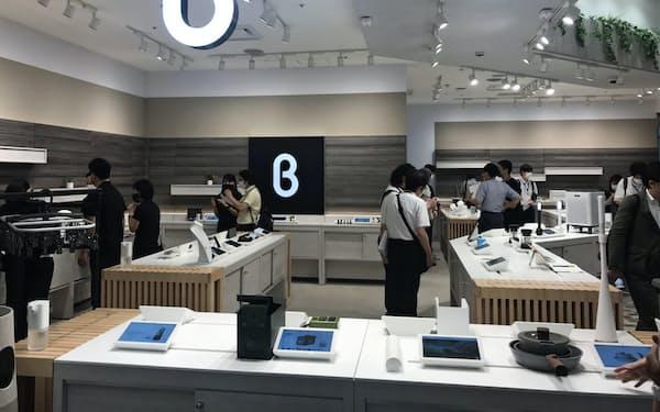 b8ta(ベータ)は来店客のデータを集め、出品者に売る(東京・新宿の新宿マルイ本館1階)