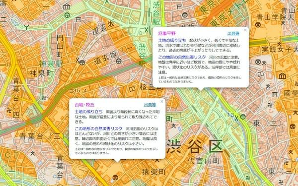 国土地理院の「地理院地図」をみれば土地の自然災害リスクを調べることができる