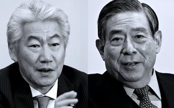 ブーストリーを巡る議論の方向性は野村HDの永井会長(写真左)とSBIHDの北尾社長の直接会談で固まった