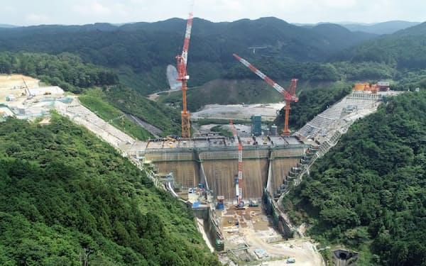 大林組は三重県伊賀市で川上ダムを施工している