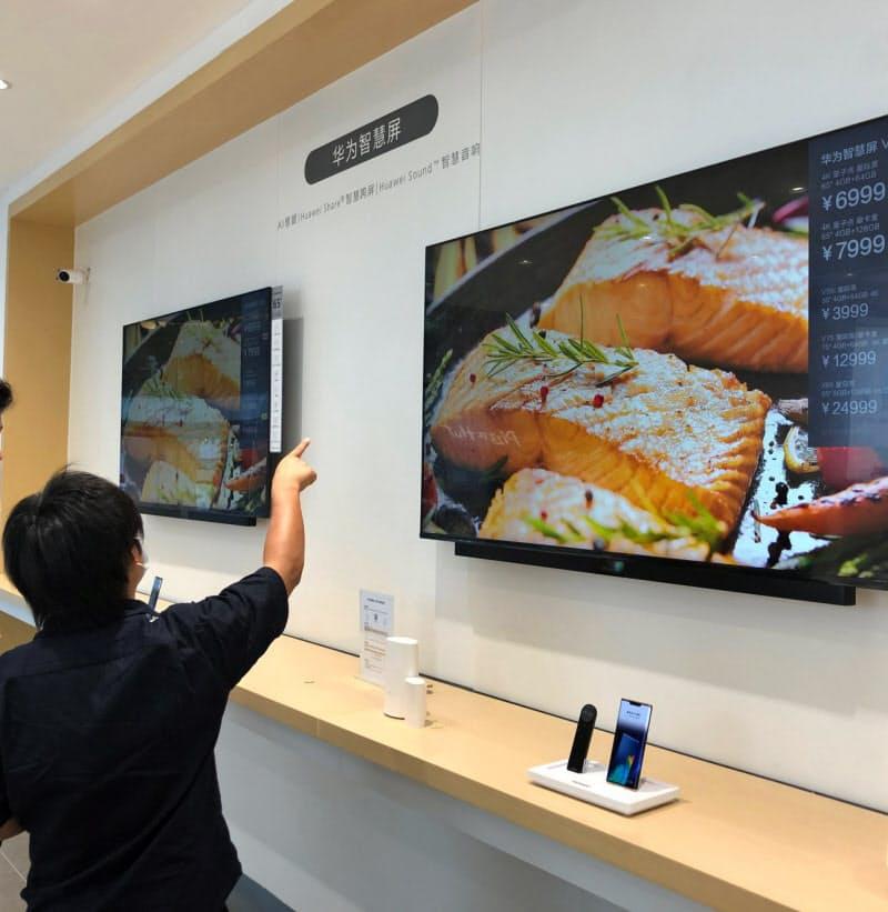 自前のOSを搭載したテレビをすでに販売(広東省広州市の販売店)