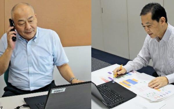 KDDIの竹内文敏さん(左)とオリックス銀行の福手昭宏さん