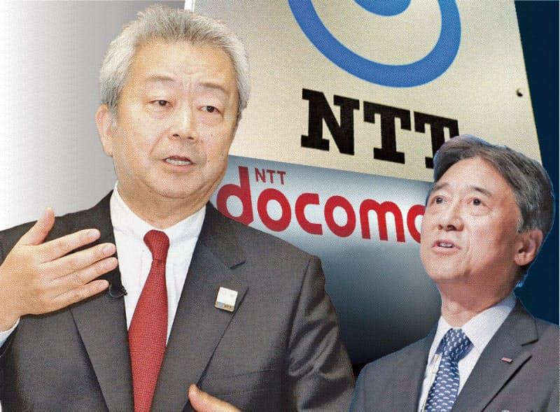 NTTの澤田氏(左)は自らドコモの吉沢氏に完全子会社化を迫った