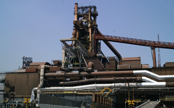 西日本製鉄所の福山地区の第4高炉